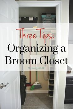How to Organize a Broom Closet - Tips from a professional organizer Broom Closet Organizer, Small Closet Organization, Organization Hacks, Organizing Tips, Kitchen Organization, Tiny Closet, Small Closets, Closet Space, Entry Closet