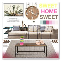 """""""Sweet Home Sweet"""" by selangel ❤ liked on Polyvore featuring interior, interiors, interior design, home, home decor, interior decorating and Sonneman"""