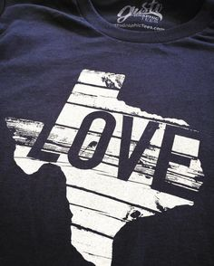 d40eac6b Texas Love Tee by Gusto Graphic Tees Gusto, Graphic Tees, Cool Designs, Crew