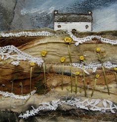 'In the field where the yellow flowers grow'  by Louise O'Hara of DrawntoStitch www.drawntostitch.com
