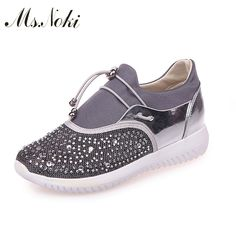 2017 Women Flat Shoes Breathable Ladies Leather Shoes Spring Crystal BlingCasual Slip on Women Shoes Causal. Click visit to buy #Women #Vulcanize #Shoes #WomenShoes #VulcanizeShoes