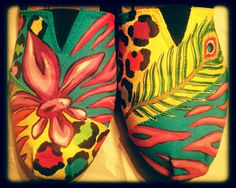 hand painted shoes by Jillyan of Avery Grace clothing and crafts