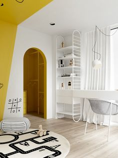 5 Cool Kids Rooms - La Petite The Coolest Kids Rooms We're loving these 5 cool kids rooms. These incredible kids rooms are sure to give you lots of great innovative ideas for decorating your own kid's space. Minimalist Kids, Cool Kids Rooms, Ideas Hogar, Kids Room Design, Modern Kids, Trendy Bedroom, Modern Bedroom, Kid Spaces, Bedroom Decor