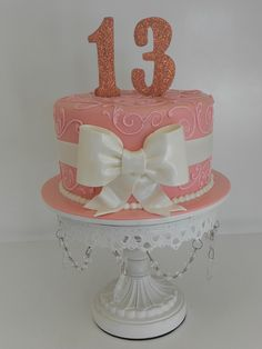 Sparkly pink birthday cake