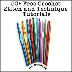 Free Crochet Stitches and Techniques