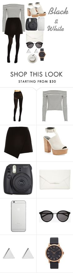 """""""Black & White (Mixers read the d)"""" by walking-in-the-wind ❤ liked on Polyvore featuring Hue, 10 Crosby Derek Lam, River Island, Rebecca Minkoff, Fuji, Style & Co., Native Union, Yves Saint Laurent, Jennifer Meyer Jewelry and Marc Jacobs"""