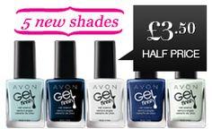 Gel Finish Nail Enamel 5 New Shades
