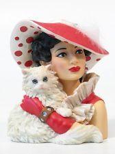 """HEAD VASE CAMEO GIRLS EMMA 1944 """"CAT'S MEOW"""" HEADVASE MIB FREE SHIPPING"""