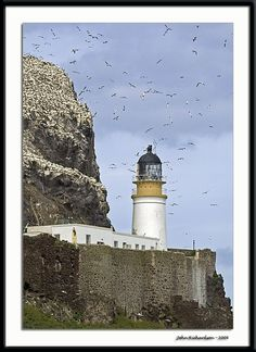 Bass Rock Lighthouse	'' The Bass ''	island in the outer part of the Firth of Forth