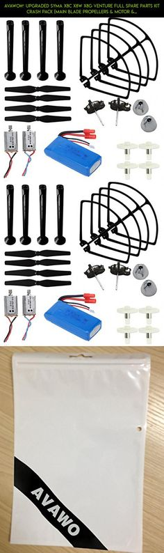 AVAWO® Upgraded Syma X8C X8W X8G Venture Full Spare Parts Kit Crash Pack (Main Blade Propellers & Motor & Propeller Protectors Blades Frame & Landing Skid & Battery & Gear etc. #plans #gadgets #syma #shopping #parts #tech #upgraded #products #drone #camera #technology #racing #fpv #motor #kit