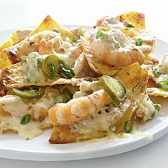 Shrimp and Crab Nachos. Yum!