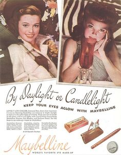 A vintage Maybelline ad from 1945.