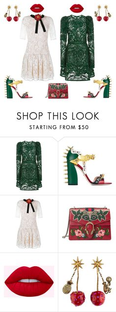"""""""haunted"""" by ell-richards ❤ liked on Polyvore featuring Elie Saab, Gucci, gucci and limecrime"""
