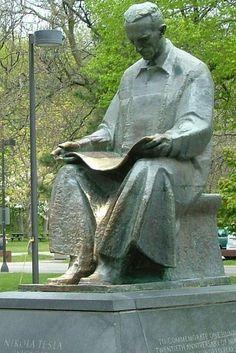 Frano Kršinić (Croatian Nikola Tesla Monument at Goat Island, Niagara Falls, New York. Gift of Yugoslavia to the United States,