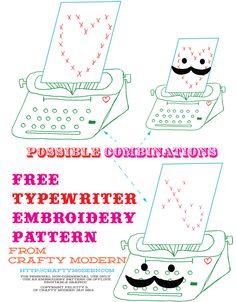 Typewriter Embroidery Pattern