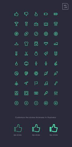 Free Stroke Gap Icons Set Vol.4