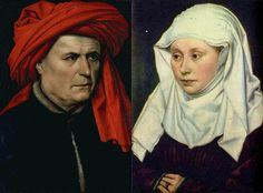 Robert Campin, Ritratto di uomo e donna, 1435, olio su tavola, Museo del Louvre (Parigi).