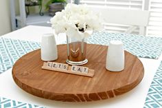 Make a lazy susan for the center of your dinner table -- you'll never have to pass the salt or ketchup again! This easy DIY takes just a few minutes of your time.