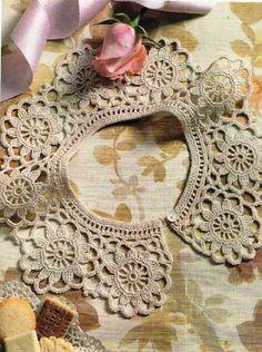 Many beautiful collars with charts #crochet