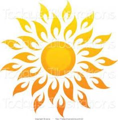Image detail for -Vector Clipart of a Bright Summer Sun with Petal Rays 1 by elena - #23