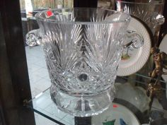 13230 $499 or make an offer - new- hand cut crystal ice bucket from europe -  free shipping worldwide