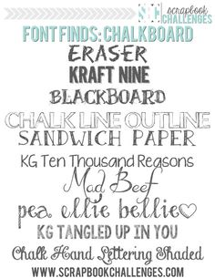 Free Chalkboard Fonts & Dingbats – Photoshop NOT required! Funky Fonts, Cool Fonts, Fuentes Silhouette, Typographie Fonts, Pc Photo, Handwritten Text, Chalkboard Fonts, Calligraphy Fonts, Alphabet
