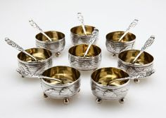 Sterling Silver Tiffany & Co. Salt Cellars