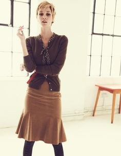 Flippy Cord Skirt. If I had a clothing budget, I would buy this.