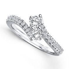 Auriya 14k Gold 1/2ct TDW 2-Stone Round Cut Diamond Ring (H-I, I1-I2) (Yellow Gold - Size 4.5), Women's