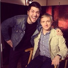 Olan Rogers & Martin Freeman. Oh. My. Goodness. Two of my favorite people.