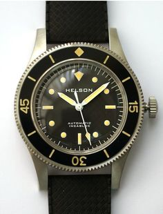 Helson Skindiver. Poor man's Blancpain 50 Fathoms with acceptable price.