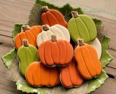 Pretty pumpkin cookies