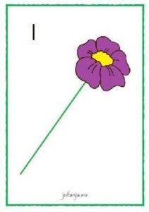Kleikaart:  Geef de bloem het juiste aantal blaadjes  - jufanja.eu