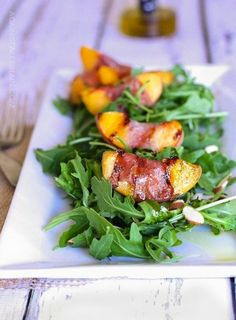 Grilled Prosciutto wrapped Peaches: http://www.stylemepretty.com/living/2015/05/15/girly-grill-inspiration-for-your-next-bbq-bash/