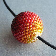 Peyote Beadweaving Seed Bead Ball-gorgous colors!