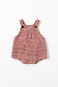 Karo #babyknits, vintage inspired baby pink check romper