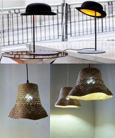 Lámparas con sombreros