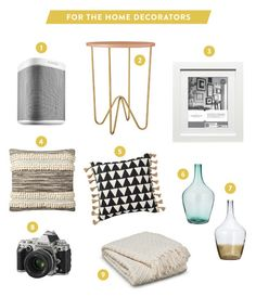 For the decorators: http://www.stylemepretty.com/2015/01/12/be-yourself-together-with-target-registry/