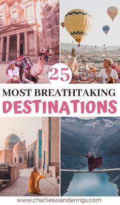 Discover some of the most beautiful places in the world! I visited all of these places myself! beautiful destinations, breathtaking destinations, travel destinations, where to travel after corona…More Top Travel Destinations, Best Places To Travel, Holiday Destinations, Travel Goals, Travel Tips, Travel Ideas, Road Trip, Jordan Travel, Beautiful Places In The World