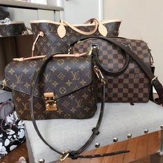 All eyes on Louis Vuitton Pochette Metis, Monogram Neverful, Speedy Handbags. #Louis #Vuitton #Bags