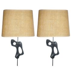 like mini works of mid century sculptural art...!1950 Georges Jouve, Wall Sconces...France