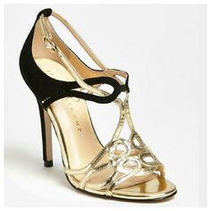 """Listing Ivanka Trump """"Herly"""" Sandal heel Beautiful heel made of black suede and gold. Worn couple times, still in great condition. Ivanka Trump Shoes Heels"""