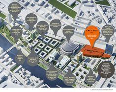 Projektiertes Umfeld Mercedes-Benz-Arena