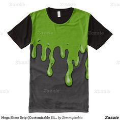 Mega Slime Drip (Customizable Slime Color) All-Over Print T-shirt