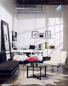"""Office vibes. The office I designed for @vitafede shot for @mydomaine"""