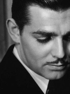 """""""I was pretty sore because they insisted on taping my ears back. One day, in a scene with Garbo, the tape snapped loose and one ear flapped in the breeze. That was the end of the taping."""" Clark Gable"""