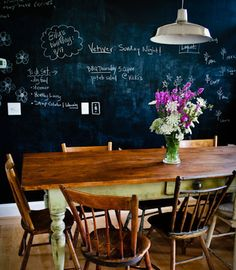 rustic + chalkboard
