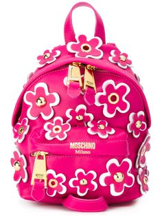 Shop Moschino flower power backpack.