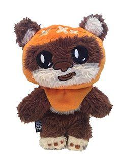 """Star Wars Dog Toy - Ewok Squeaky Crinkle Squeaker Puppy Plush Chew Toy, 6"""" X 4.5"""" Star Wars"""