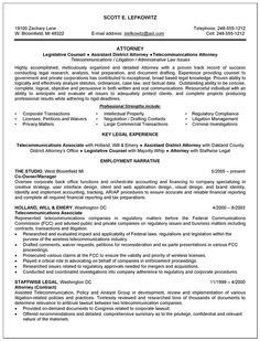 Law school admission resume objective